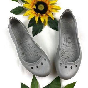 Crocs Kaydee Rubber Flats Slip On Gray
